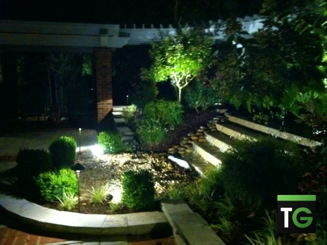 Outdoor LED Landscape Waterfall Lighting Washington MO_ws