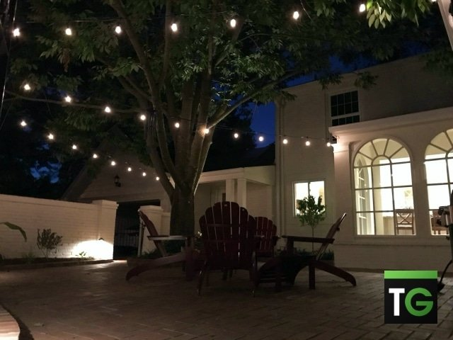 Outdoor LED Patio Wire Lighting Ladue MO_ws