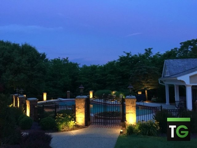 Outdoor LED Pool Area Lighting Washington MO_ws