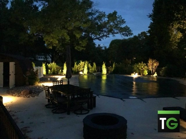 Outdoor LED Pool Lighting Clarkson Valley MO_ws